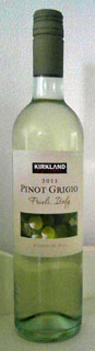 Kirkland Signature Pinot Grigio 2011 (wine review and rating)
